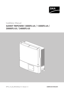 Sunny Tripower 12000/15000/20000/24000 TL-US