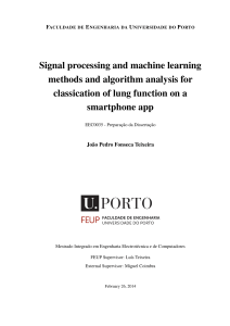 Signal processing and machine learning methods and algorithm