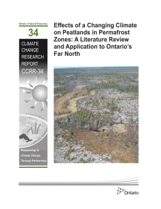 Effects of a changing climate on peatlands in permafrost
