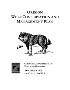 Oregon Wolf Conservation and Management Plan