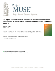 The Impact of Political Parties, Interest Groups