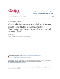 LawHacks - Digital Commons @ Georgia Law