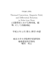 Thermal Convection, Magnetic Field, and Differential Rotation in