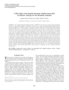 A Pilot Study of the Spanish Ketogenic Mediterranean Diet: An