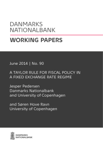 June 2014 | No. 90 A TAYLOR RULE FOR FISCAL POLICY IN A