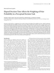Elapsed Decision Time Affects the Weighting of Prior