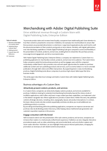Merchandising with Adobe® Digital Publishing Suite