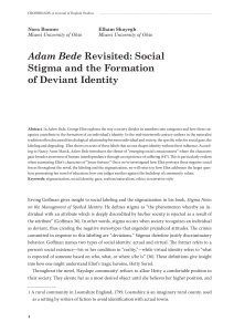 Adam Bede Revisited: Social Stigma and the