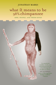 What It Means to Be 98% Chimpanzee : Apes, People, and Their