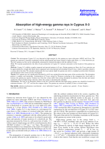 Absorption of high-energy gamma rays in Cygnus X-3