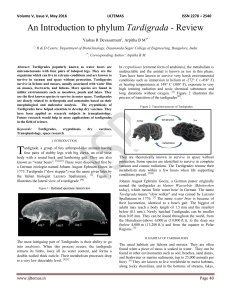 An Introduction to phylum Tardigrada - Review