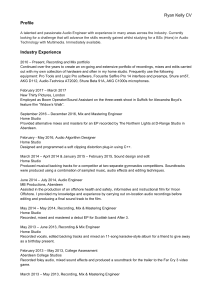 Ryan Kelly CV Profile Industry Experience