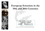 European Scientists in the 19th and 20th Centuries