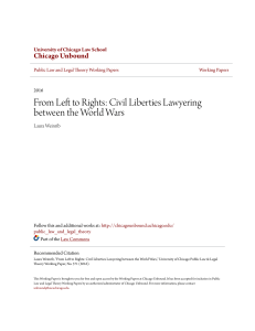 From Left to Rights: Civil Liberties Laywering between the World Wars