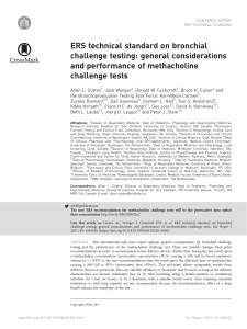 ERS technical standard on bronchial challenge testing