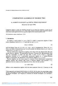 Composition algebras of degree two