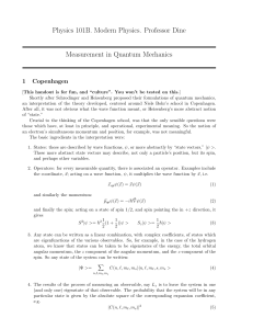 Measurement in Quantum Mechanics
