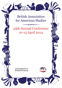 Conference abstract book - University of Birmingham