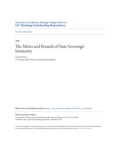 The Metes and Bounds of State Sovereign Immunity