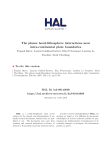 The plume head-lithosphere interactions near intra - HAL-Insu