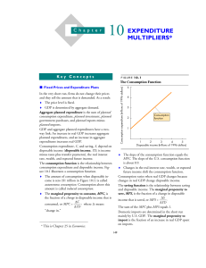 Chapter 25(10): Expenditure Multipliers