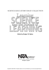 science educators` essay collection