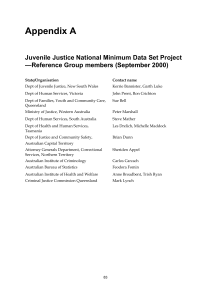 Appendix A Juvenile Justice National Minimum Data Set Project