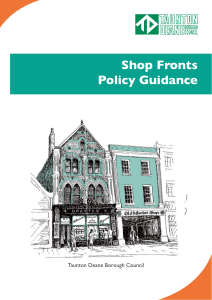 Shop Fronts Policy Guidance - Taunton Deane Borough Council