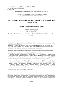 Glossary of terms used in photochemistry, 3rd edition (IUPAC