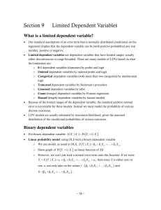 Section 9 Limited Dependent Variables