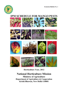 IPM SCHEDULE FOR MANGO PESTS National Horticulture