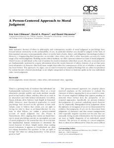 A Person-Centered Approach to Moral Judgment