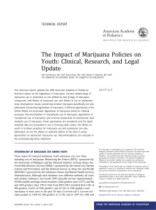 The Impact of Marijuana Policies on Youth: Clinical