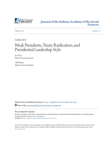 Weak Presidents, Treaty Ratification, and Presidential Leadership
