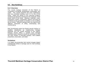 Thornhill Markham Heritage Conservation District Plan