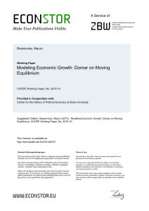 Modeling Economic Growth