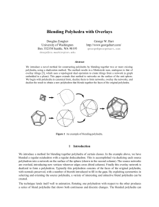 Blending Polyhedra with Overlays