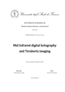 Mid Infrared digital holography and Terahertz imaging