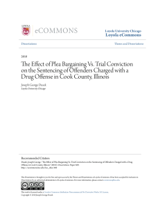 The Effect of Plea Bargaining Vs. Trial Conviction