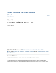 Deviation and the Criminal Law - Northwestern University School of