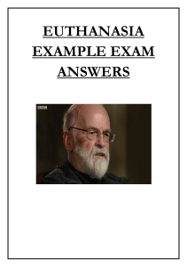 EUTHANASIA EXAMPLE EXAM ANSWERS