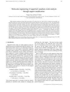 Molecular Engineering of Supported Vanadium