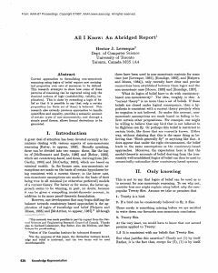 An Abridged Report - Association for the Advancement of Artificial