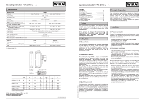 Operating instruction FWS-DWM-L Operating