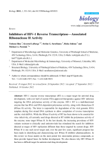Inhibitors of HIV-1 Reverse Transcriptase—Associated