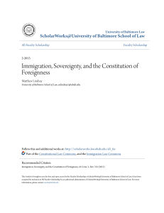 Immigration, Sovereignty, and the Constitution of Foreignness