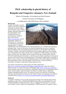 Glacial PhD opportunity on Ruapehu volcano