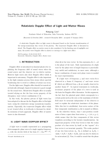 Relativistic Doppler Effect of Light and Matter Waves