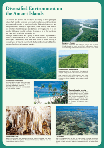 p.3. Diversified Environment on the Amami Islands