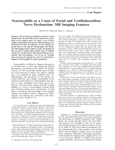 Neurosyphilis as a Cause of Facial and